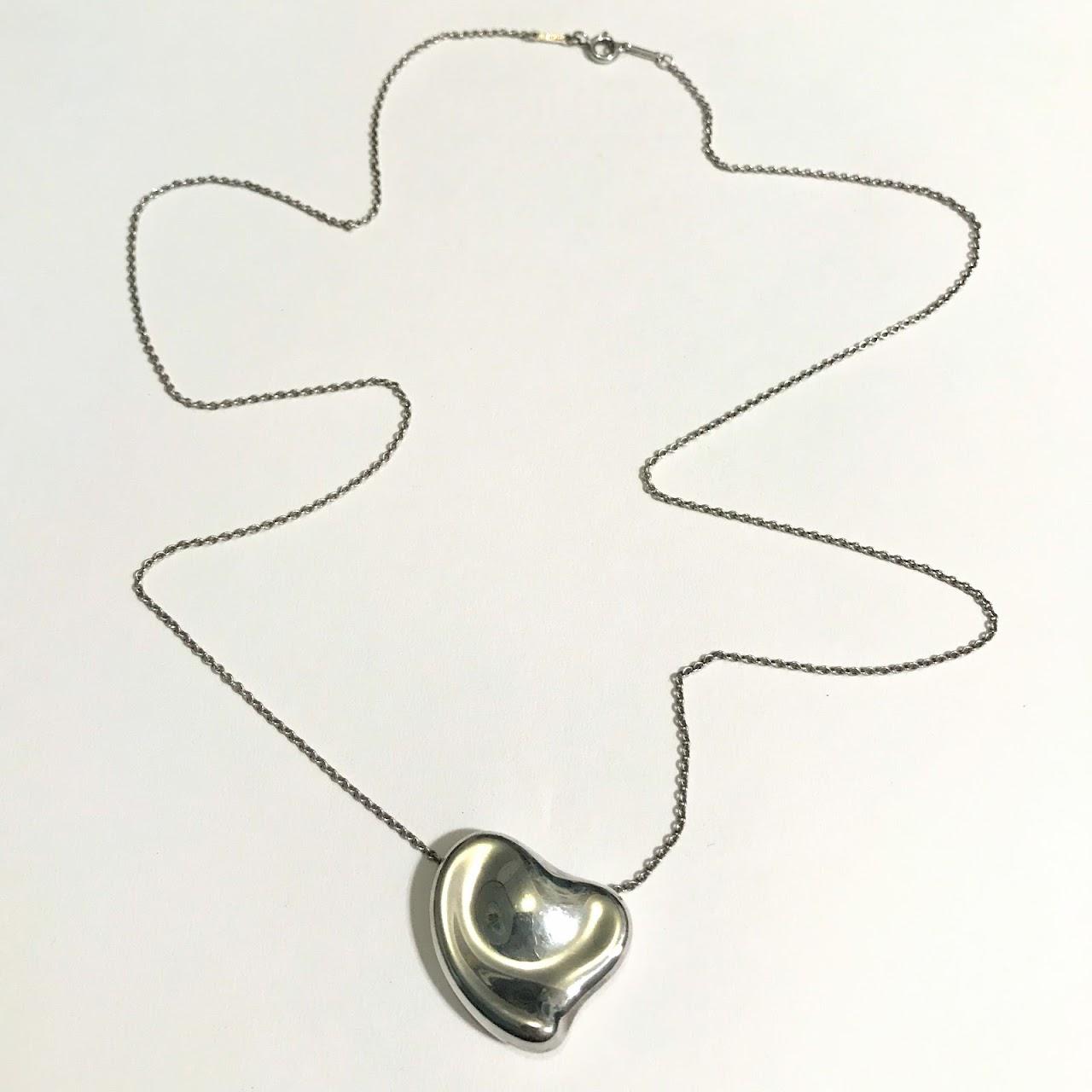 ac127bbc0 Tiffany & Co. X Elsa Peretti Sterling Silver Full Heart Pendant Necklace