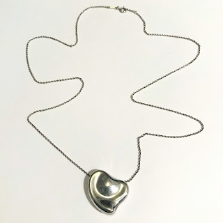 Tiffany & Co. X Elsa Peretti Sterling Silver Full Heart Pendant Necklace