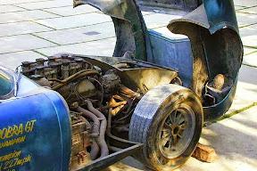 Abandoned Shelby Daytona Coupe Engine Bay