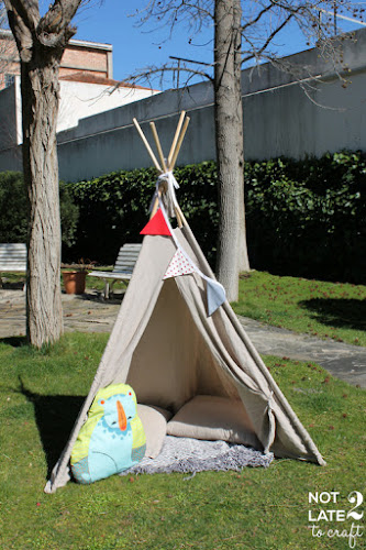 Not 2 late to craft: Hack IKEA: de funda nòrdica a tipi amb enllaç al patró / IKEA hack: from duvet cover to tee-pee with link to pattern