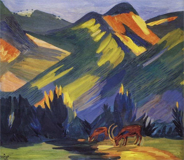 Martiros Saryan - Morning in Stavrin, 1912