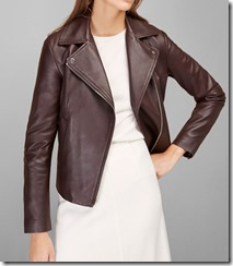 Massimo Dutti burgundy leather jacket