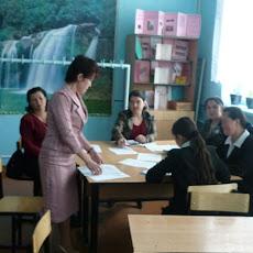 Kyrgyzstan, Batken Region, April, 2010. Events for pupils and teachers at Uzbek school.