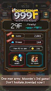 Dungeon999 game for Android screenshot