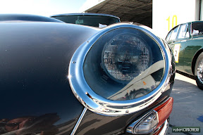Jaguar E-Type Headlight Detail