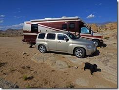 Our Boondocking Spot at Alabama Hills near Lone Pine CA