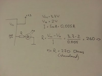 How to calculate the value of a current limiting resistor