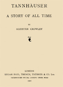 Cover of Aleister Crowley's Book Tanhauser A Story Of All Time