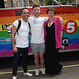 OIC - ENTSIMAGES.COM - Daniel Brocklebank and Gemma Atkinson at the    Pride in London Parade  27th June 2015  27th June 2015   Photo Mobis Photos/OIC 0203 174 1069