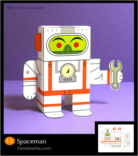 Spaceman Paper Toy
