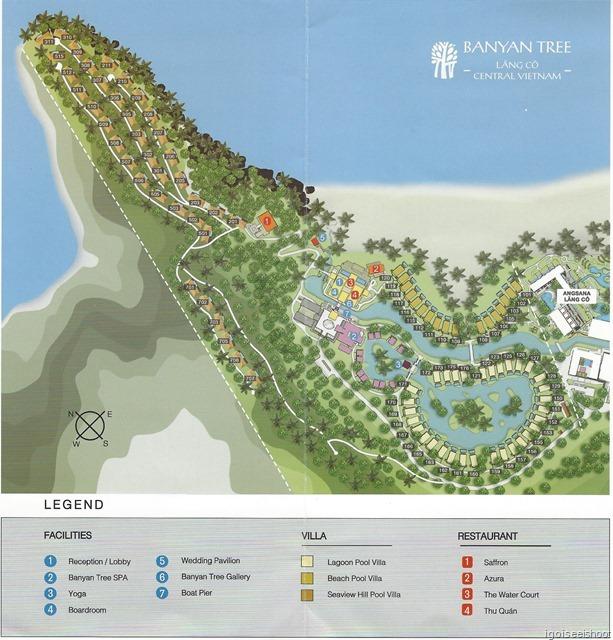 Map of Banyan Tree Lang Co