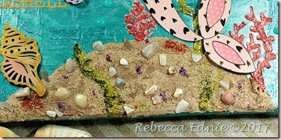 mermaid canvas rock closeup