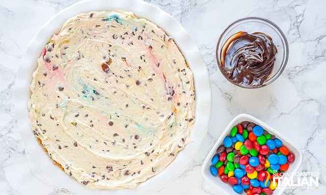 no-bake cheesecake with toppings to be added