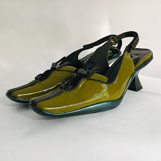Prada NEW Patent Leather Slingback Pumps