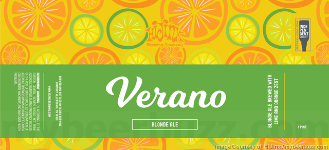 HiJinx Adding Verano Blonde Ale 16oz Cans