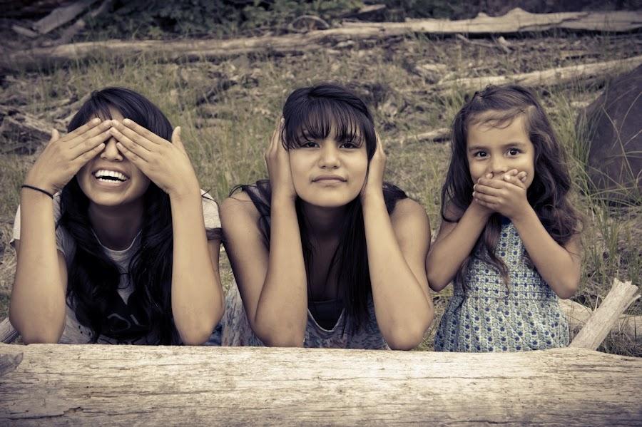 See Hear Speak No Evil by Iggy Frankenstein - Babies & Children Child Portraits