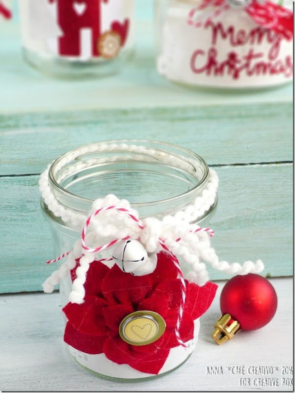 Riciclare barattoli come porta candele per Natale con la Big Shot