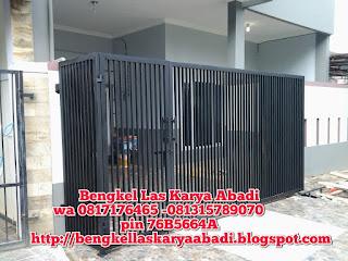 contoh pagar minimalis galvanis