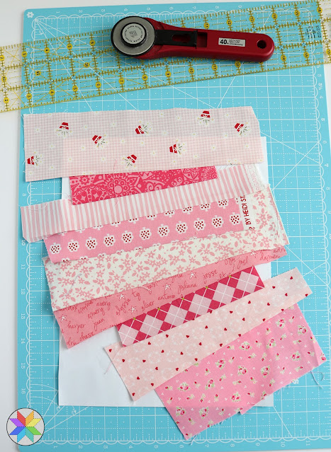 String pieced quilt block - a foundation piecing tutorial - Heartstrings quilt block tutorial by A Bright Corner