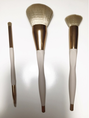 Wilko Luxury Brush Collection - Smoky Eye Duo, Powder Brush, Stippling Brush