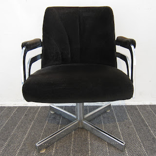 Chromecraft Velvet Armchair #2