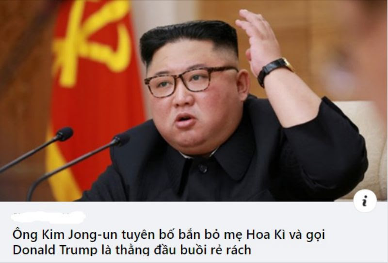 Ông Kim Jong-un tuyên bố bắn bỏ mẹ Hoa Kỳ và gọi Donald Trump là thằng đầu buồi rẻ rách