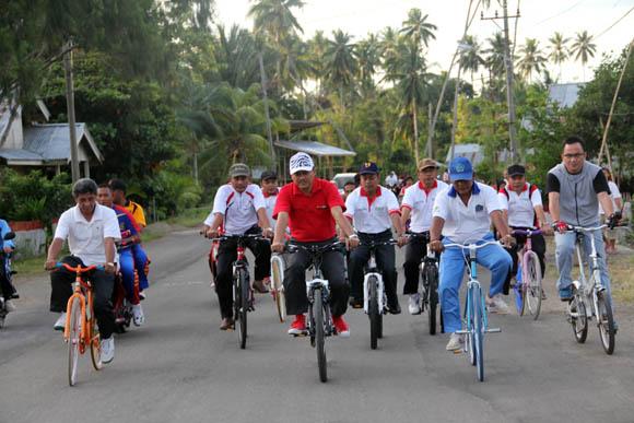 sepeda sehat, molibagu, bolaang uki, Bolsel, Bolaang Mongondow Selatan, Pinolosian, posigadan, Humas Bolsel