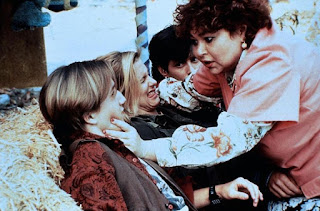 Roseanne Barr warns the Elm Street kids.