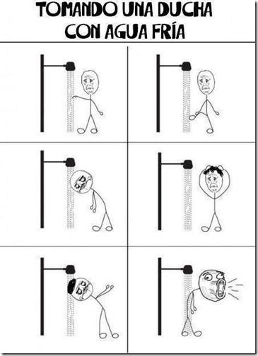 ducha con agua fria