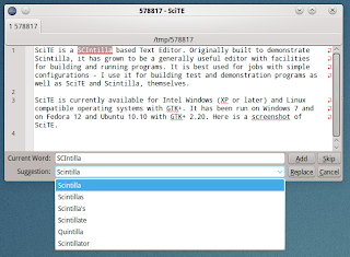 Hunspell interface for SciTE under Linux - Google Groups