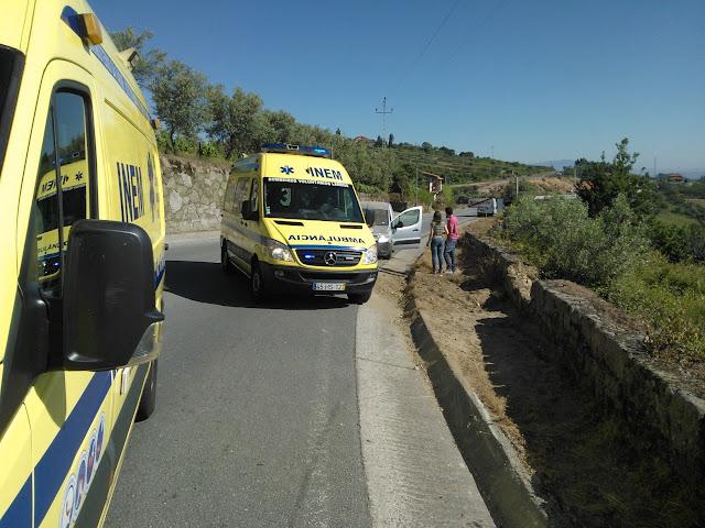 Despiste de um veículo ligeiro na EN 206 faz um ferido ligeiro