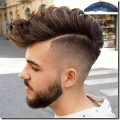 Fuax hawk fade haircut men