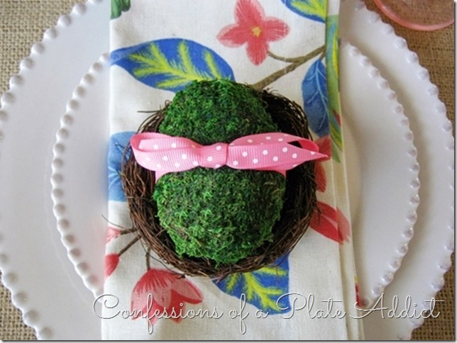 CONFESSIONS OF A PLATE ADDICT Moss-Covered Easter Eggs