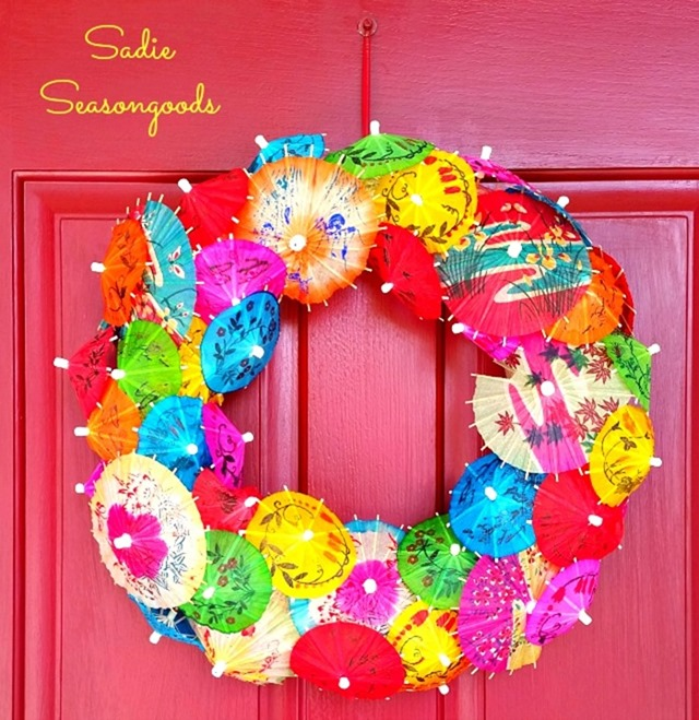 Sadie_Seasongoods_vintage_cocktail_umbrella_wreath_summer_door_decor1