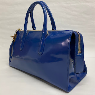 Max Mara Blue Leather Shoulder Bag