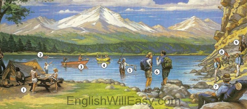 Outdoor Recreation - Picture Dictionary