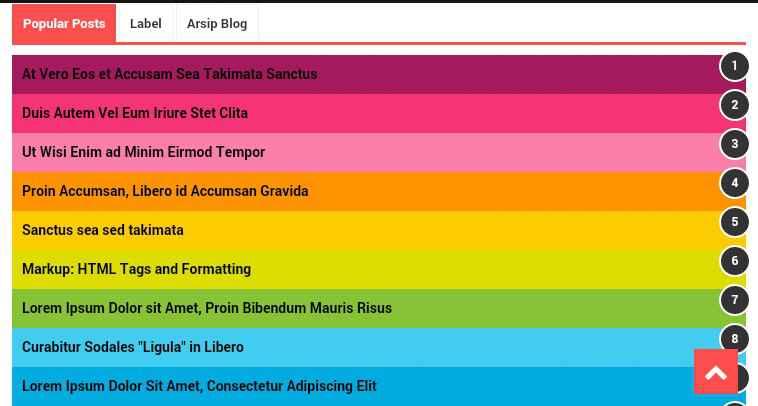 membuat popular post ala evo magz warna warni