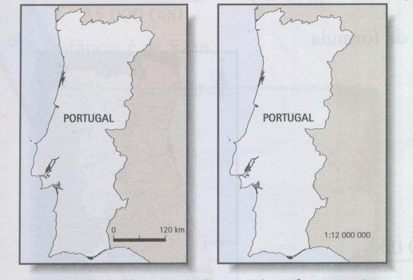 mapa com escala de portugal GEOGRAFANDO: MAPAS: ESCALA NUMÉRICA E ESCALA GRÁFICA mapa com escala de portugal