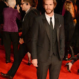 WWW.ENTSIMAGES.COM -     Liam Hemsworth   at      The Hunger Games - Mockingjay - part 1 - UK film premiere at Odeon Leicester Square, London November 10th 2014Premiere of latest film in the Hunger Games franchise, which this time sees Katniss lead a rebellion against the tyrannical and corrupt Capitol.                                              Photo Mobis Photos/OIC 0203 174 1069