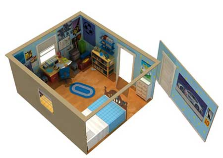 Toy Story 3 Papercraft Andy's Room