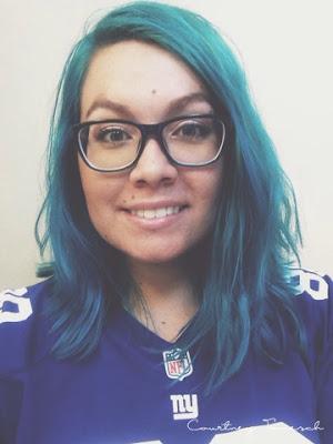 Courtney Tomesch Hair Cut Lob Arctic Fox Aquamarine