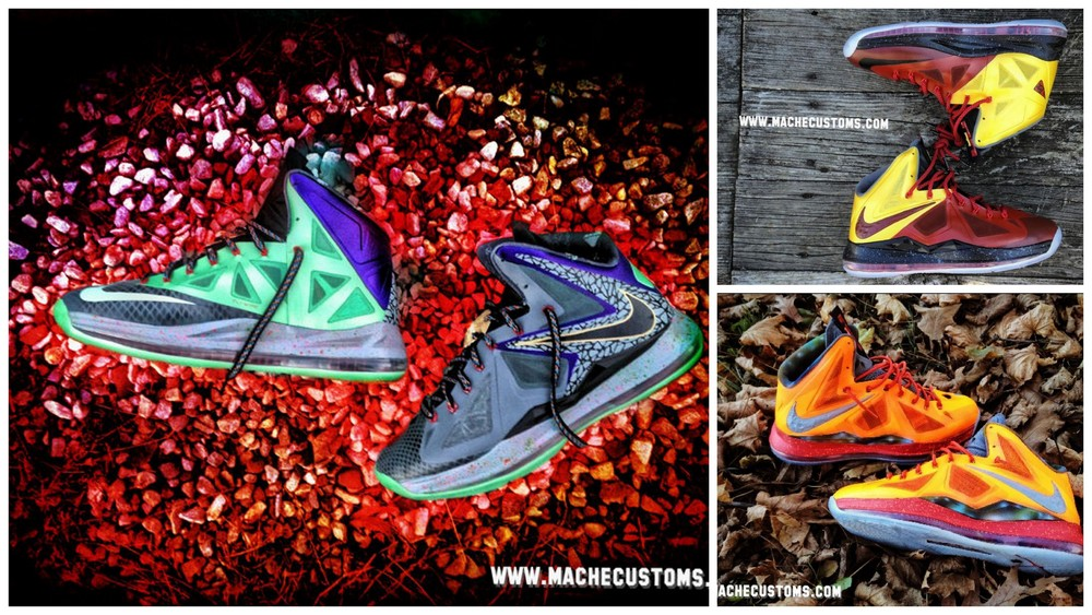 low priced 6f5a7 f9a1e Galaxy Chamber of Fear amp Mita LeBron X Customs by Mache ...