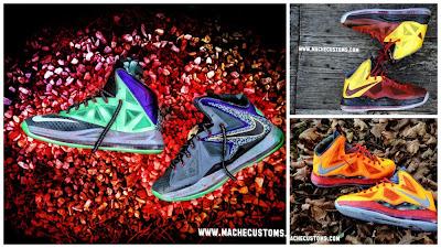 nike lebron 10 cs mache black friday1 01 Galaxy, Chamber of Fear & Mita LeBron X Customs by Mache