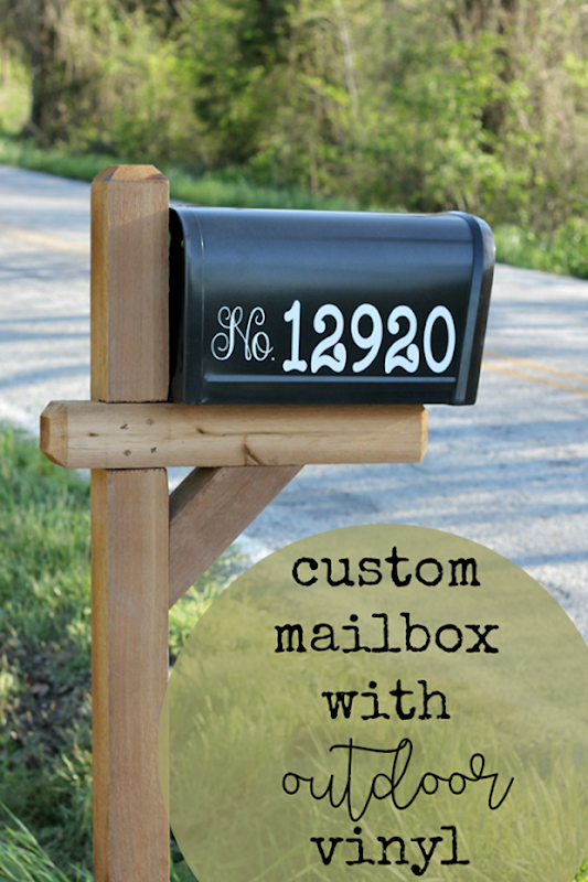 personalize your mailbox with Cricut #cricutmade #cricut #cricutmaker[2]