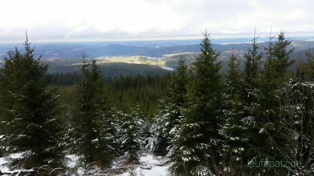 Blick vom  Auersberg Richtung Sosa Erzgebirge