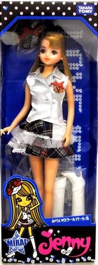 Búp bê Jenny Cô nàng Mirai mặc đồng phục cao khoảng 27 cm