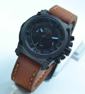 jam tangan Quiksilver chrono aktif 4lady brown leather blue