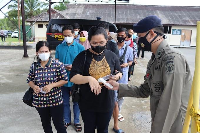 Sambut HUT Korps Brimob Polri  Ke-76,  Brimob Kaltim Melaksanakan Vaksinasi Covid-19 Massal di Mako Batalyon B Pelopor