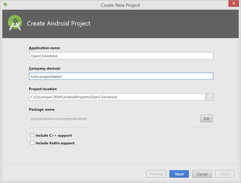 Android - Crear proyecto nuevo