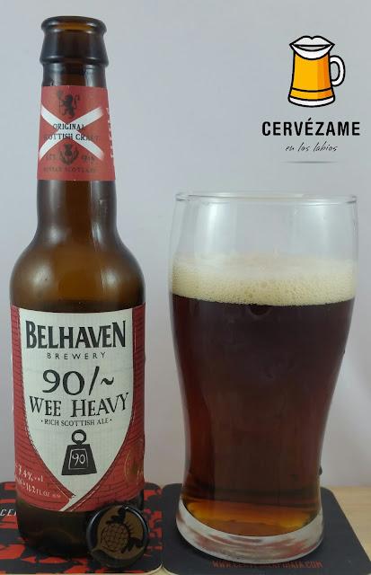 cerveza Beer Belhaven 90 /- Wee Heavy Cervezame en los labios